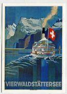ADVERTISMENT - AK 308173 Vierwaldstättersee - MODERN REPRODUCTION CARD - Publicidad