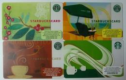 UK - 4 Starbucks Cards - Mint - Tarjetas De Regalo