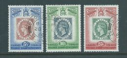 St Lucia 1960 Postage Stamp Centenary Set Of 3 FU - St.Lucia (...-1978)