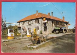 CPSM- 19* MERCOEUR - Restaurant L'AUVERGNASSOU *Bassignac-le-Bas- Dancing Station SHELL ** 2 SCANS - Autres Communes