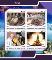 CENTRAL AFRICA 2017 ** Pope Francis Papst Franziskus Christmas M/S - OFFICIAL ISSUE - DH1748 - Popes