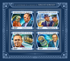 CHAD 2017 ** Sergei Korolev Space Raumfahrt Espace M/S - IMPERFORATED - DH1748 - Africa