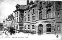 80   AMIENS  - LE TRAMWAY AU LYCEE DE JEUNE FILLES    -  - A200-46 - Amiens