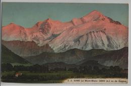 Le Mont-Blanc Vue De Geneve - Photo: Jullien Freres - GE Genf
