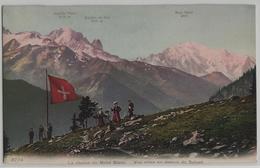 La Chaine Du Mont-Blanc - Vue Prise Au Dessus De Salvan - Animee - Phototypie - VS Valais