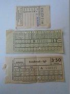 D155757 Austria  Wien Innsbruck Tram Train Tickets 1964 - Unclassified
