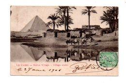 Carte Le Caire -affranchissement Port Said Et Timbre  - -voir état- - Égypte