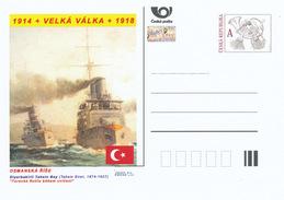 """Tschech. Rep. / Ganzsachen (Pre2014/26) WWI - Osmanisches Reich: Tahsin Siret """"Türkische Flotte Während Manövern"""" - 1. Weltkrieg"""