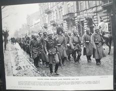 Troupes Russes Défilant Dans PRZEMYSL (mars 1915) Repro 24 Cm X 30 Cm - Documenti Storici