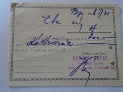 J2049.8  Bill -receipt -Kerényi Antal  Tie Factory  -Fashion    -Budapest Haris-köz 3  -Hungary 1948 - Facturas & Documentos Mercantiles