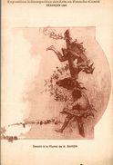 EXPOSITION RETROSPECTIVE DES ARTS EN FRANCHE-COMTE BESANCON 1906 DESSIN A LA PLUME DE H. BARON - Exposiciones