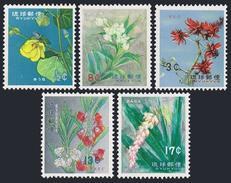 RyuKyu 98-102,114,MNH.Michel 125-130. Flowers 1962-1963. - Végétaux