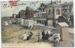 14. VILLERS SUR MER.   LA PLAGE ET LA DIGUE EN 1907. - Villers Sur Mer