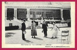CPA Spectacle Cinématographique - La Course à L'Amour - Une Scène Du Film - Film