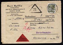 A5004) Berlin Nachnahmebrief 18.1.58 EF Mi.150 - Briefe U. Dokumente