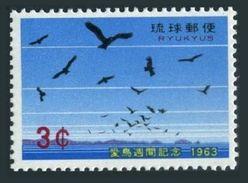 RyuKyu 110,MNH.Michel 138. Bird Day 1963,Hawks. - Eagles & Birds Of Prey