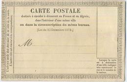 CARTE PRECURSEUR NEUVE N°3 - Biglietto Postale