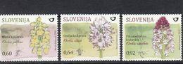 Slovenia 2015 Slovenian Orchids Local Flora Orchid Flowers Plants Flower Plant Nature Flora V3 Stamps MNH - Orchideen