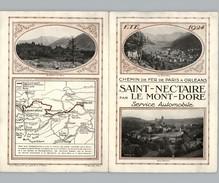 CHEMINS DE FER De Paris à Orléans 1924 - Double Feuillet - Saint-Nectaire Par Le Mont-Dore - Puy De Dome - Train - Europe