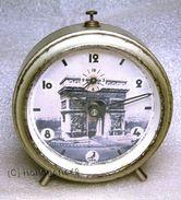 Horlogerie Rare Reveil JAZ Libération Paris Arc De Triomphe - Clocks