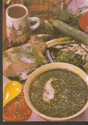 K2. Russia USSR Soviet Postcard Botvine Recipe In Russian At The Back Side Cooking Cold Food From Kvass W/ Boiled Potato - Recipes (cooking)