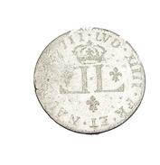 30 Deniers - Louis XIIII - 1711 - Lyon - Billon - 2,20 Gr. - B+ - - 987-1789 Royal