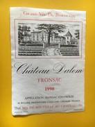 5828 - Château Dalem 1990 Fronsac - Bordeaux
