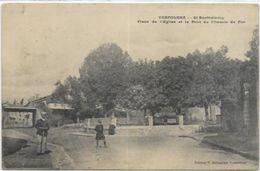 16.  CONFOLENS.  ST BARTHELEMY. PLACE DE L EGLISE ET LE PONT DU CHEMIN DE FER - Confolens