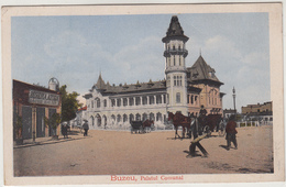 Romania  Rumänien Roumanie  Buzau Buzeu - Palatul Comunal Feldpost 1917 - Romania