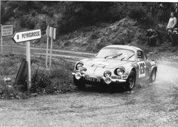 Alpine Renault A110 1600  -  Pilote: Jean Vinatier  -  Rallye Critérium Des Cévennes 1969   -  Carte Postale - Rallyes