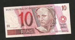 BRAZIL - El BANCO CENTRAL Do BRAZIL - 10 REAIS (1997 - 2012) - Brasile