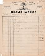 1870 - MEUNG-sur-LOIRE (45) - PHARMACIE-DROGUERIE, Produits Chimiques - Charles LANDRON - Historische Dokumente