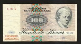 DENMARK / DANIMARCA - DANMARKS NATIONALBANK - 100 KRONER (1972) - Danimarca