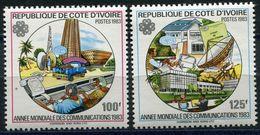 COTE D'IVOIRE N°666A/B** ANNEE MONDIALE DES COMMUNICATIONS - Ivory Coast (1960-...)
