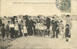 -  62  -  BERCK  -  Dispositions Des Appareils Servant Au Lancement Du Grand Cerf-volant - Berck