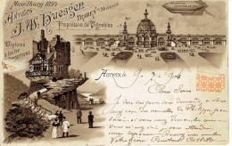 Antwerpen Anvers  J. W. Huesgen  Moselburg 1894  Precurseur Proprietaire De Vignoble   Zepelin - Antwerpen
