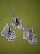 Collection 3 Magnets Paris à Vélib' - Foxtrot (c) Vélib' - Officiels - Mairie De Paris - Rare - Tourism