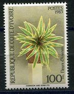 COTE D'IVOIRE N°675C** FLEURS D'ANANAS - Ivory Coast (1960-...)