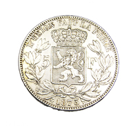 5 Francs - Belgique - 1873 - Argent - TTB - - 1865-1909: Leopold II