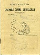 Notice Explicative Sur La Chambre Claire Universelle - Vers 1900 - Materiaal & Toebehoren