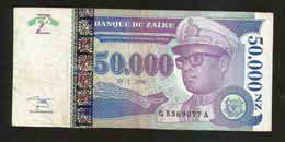 ZAIRE - BANQUE Du ZAIRE - 50000 Nouveaux ZAIRES (1996) - Zaire