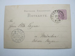 1882 , NEUSTRELITZ , Klarer Stempel Auf Ganzsache - Mecklenbourg-Strelitz