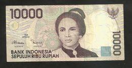 INDONESIA - BANK Of INDONESIA - 10000 RUPIAH (1998) TJUT NJAK DHIEN - Indonesia