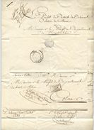 DELÉMONT Lettre De 1835 Cachet Entrée Suisse Par Delle - Postmark Collection (Covers)