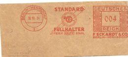 Germany Nice Cut Meter Standard Fullhalter, Hermsdorf 39/10/1934 - Fabrieken En Industrieën