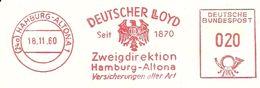 Germany Nice Cut Meter Deutscher Lloyd, Hamburg-Alton 18/10/1960 Ship - Boten