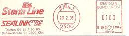 Germany Nice Cut Meter Stena Line, Seaink, Kiel 23/2/193 Ship - Boten