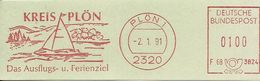 Germany Nice Cut Meter Kreis Plon Das Ausflugs- Und Ferienziel, Plon 2/1/1991 Sailingship - Boten