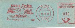 Germany Nice Cut Meter Kreis Plon Das Ausflugs- Und Ferienziel, Plon 2/810/1968 Sailingship - Vakantie & Toerisme
