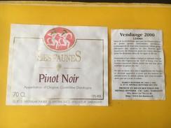 5855 - Les Faunes Pinot Noir Dardagny Suisse - Etiquettes